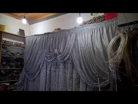 طريقة خياطة ستائر الخوخة --Method of stitching Curtains