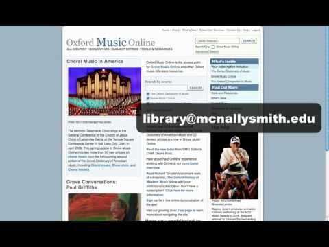 Oxford Music Online - An Introduction