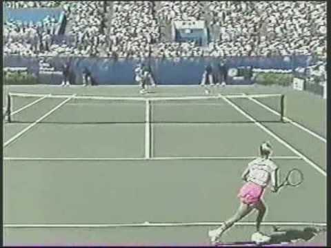 Chris Evert d. Monica Seles: 1989 US Open 4R