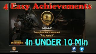 How to Earn FIELD MEDIC Achievements (I, II, III, IV) in UNDER 10 MINUTES | PUBG Mobile