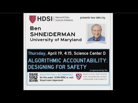 Algorithmic Accountability: Designing for Safety | Ben Shneiderman || Radcliffe Institute