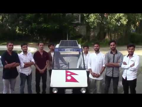 Solar Car designed by Engineering Students in Pokhara, Nepal
