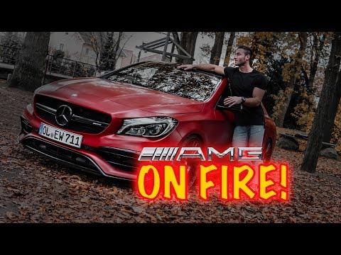 JETZT IST MEIN WAGEN ON FIRE! CLA45 AMG