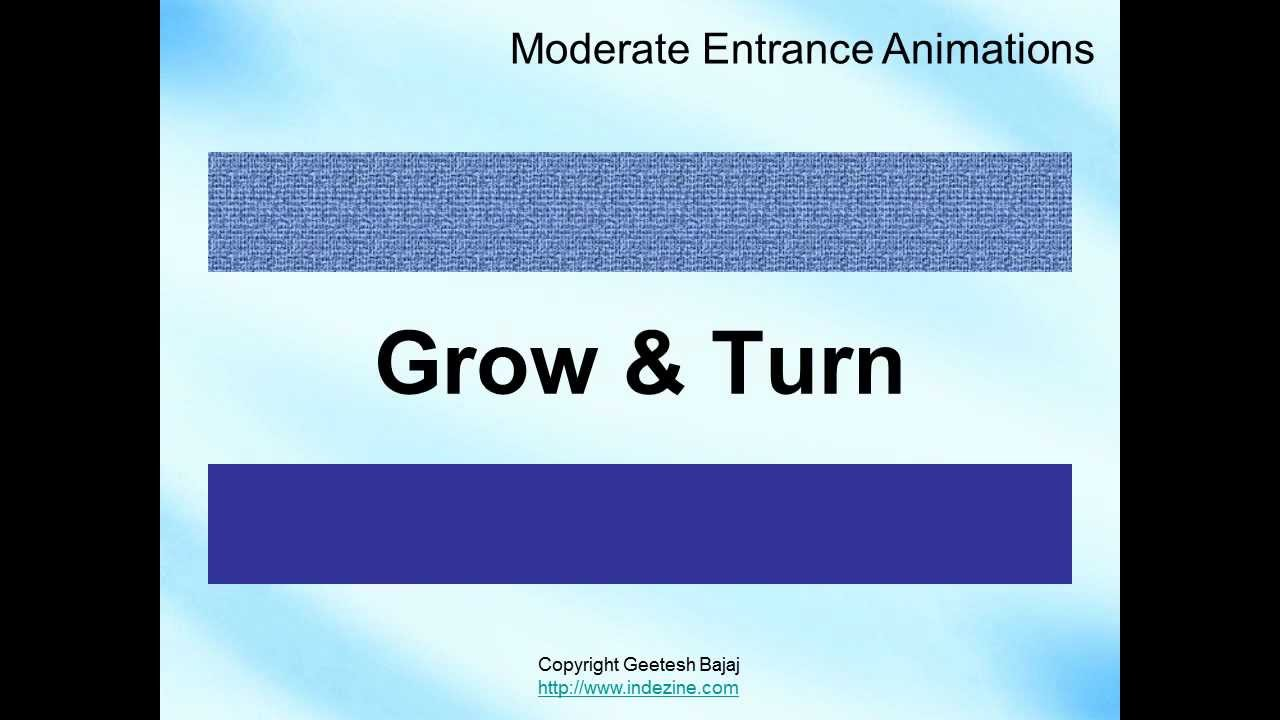 Entrance Animations in PowerPoint 2010