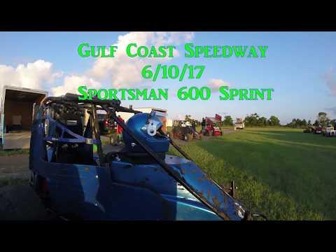 Gulf Coast Speedway 6/10/17 Sportsman 600 Sprints