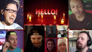 [VERSION 2.0] HELLO NEIGHBOR SONG (GET OUT) LYRIC VIDEO - DAGames [REACTION MASH-UP]#197