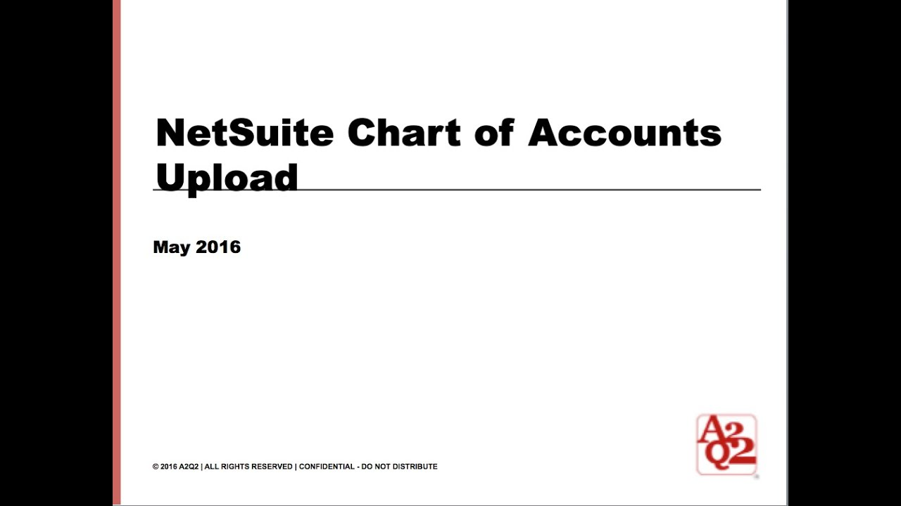 42 Netsuite Chart Of Accounts Upload Youtube