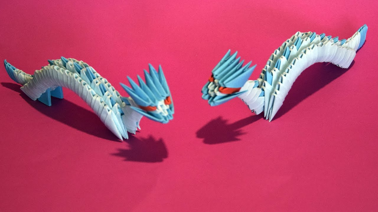 3D origami Small Dragon Tutorial for beginner - YouTube - photo#47