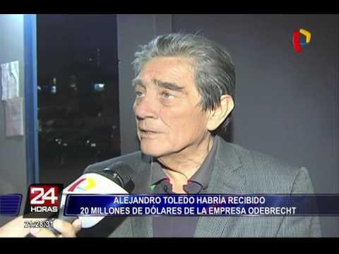 URGENTE: aseguran que Alejandro Toledo recibió US$ 20 millones en sobornos de Odebrecht
