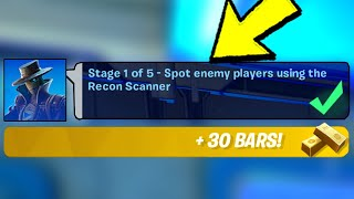 Spot Enemy Players Using the Recon Scanner & NEW WRATH PUNCHCARD LOCATION (Fortnite)