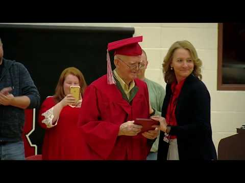 David Fisch - WWII Vet Finally Gets High School Diploma!