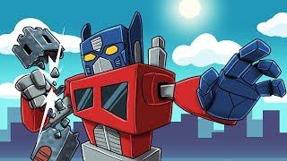Minecraft - TRANSFORMERS BASE CHALLENGE: Optimus Prime.EXE! (Transformer vs Base)
