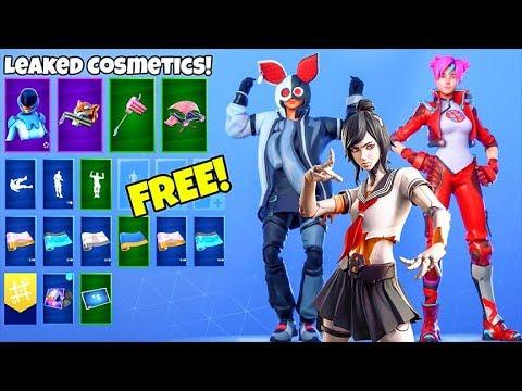 *NEW* Skins & Emotes..! (FREE Rewards, Tsuki skin, Birthday Presents LEAKED) Fortnite Battle Royale