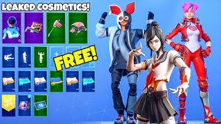 *NEW* Skins & Emotes..! (FREE Rewards, Tsuki skin, Birthday Presents LEAKED) Fortnite Battle Royale