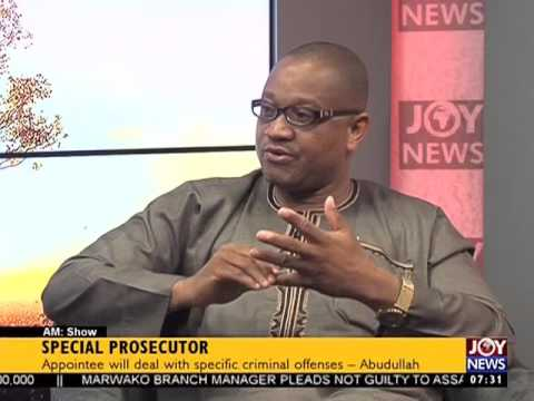 Appointment of Special Prosecutor - AM Show on Joy News (9-3-17)
