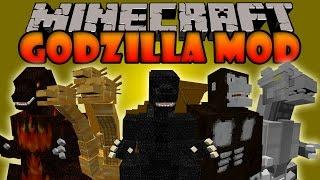 GODZILLA MOD - Burning Godzilla,King Kong,King Ghidorah - Minecraft mod 1.6.4 Review ESPAÑOL