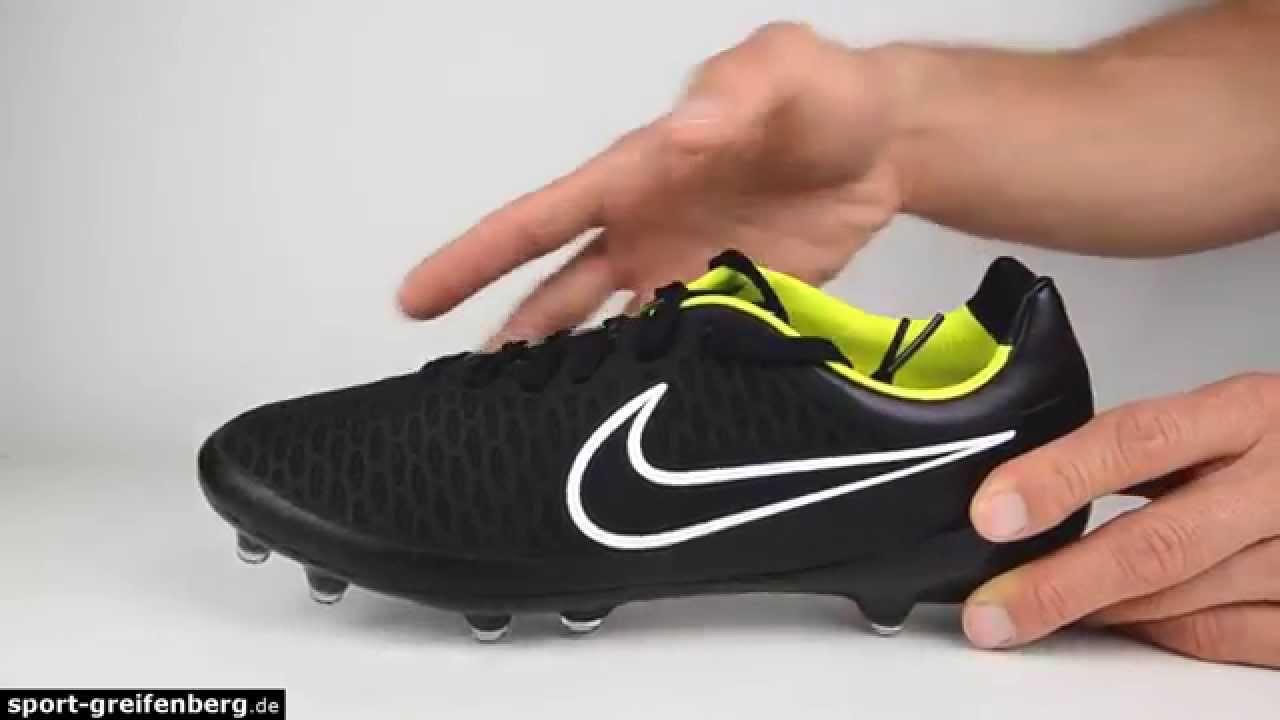 e408c7e8916f Nike Magista Opus FG Black - YouTube