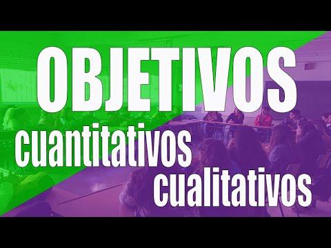 6.3 Objetivos cuantitativos y cualitativos