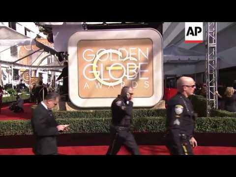 Security heavy outside Golden Globe Awards