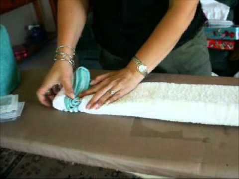 towel cake tutorial youtube
