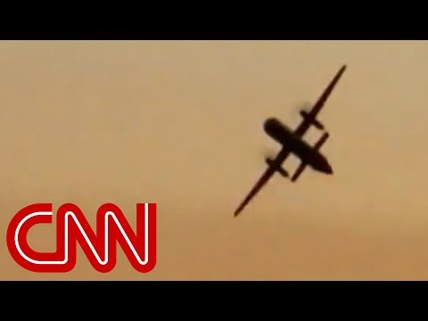 See stolen plane flying moments before crash