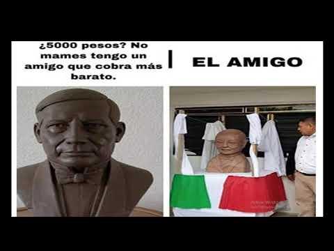 Los mejores memes de el busto de Benito Juarez
