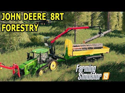 John Deere 8rt forest edition v 1 0   FS19 mods, Farming