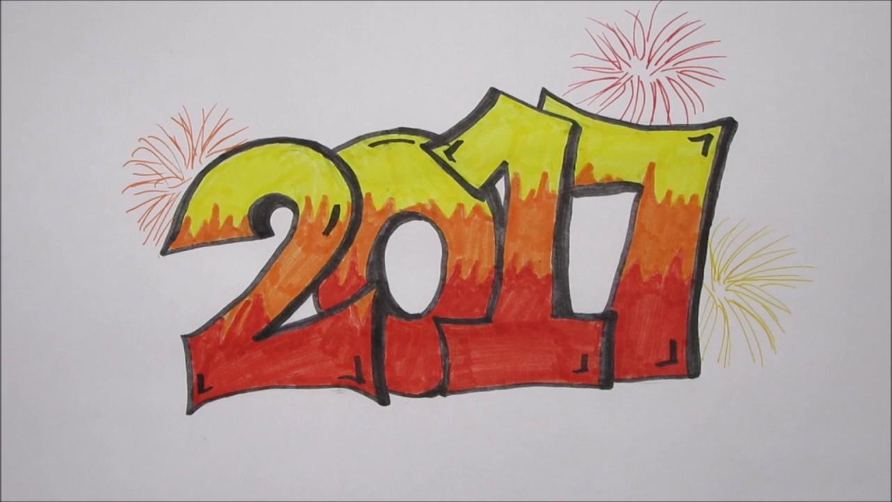 Top Graffiti 2017 tekenen! Gelukkig Nieuwjaar! :) - YouTube #GK94