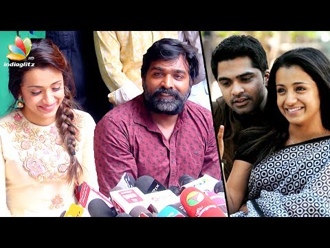 I was mesmerized by VTV Jessy's beauty : Vijay Sethupathi Speech | 96 Movie Launch, Trisha, Simbu