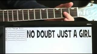 Download No Doubt Just A Girl Guitar Tab Lesson Mp3 and Videos