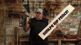 Circular Saw -  Rip Fence With A Twist
