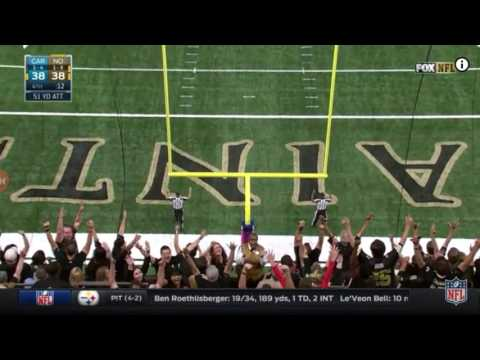 Wil Lutz 52-yd GAME WINNING FG vs. Panthers 2016