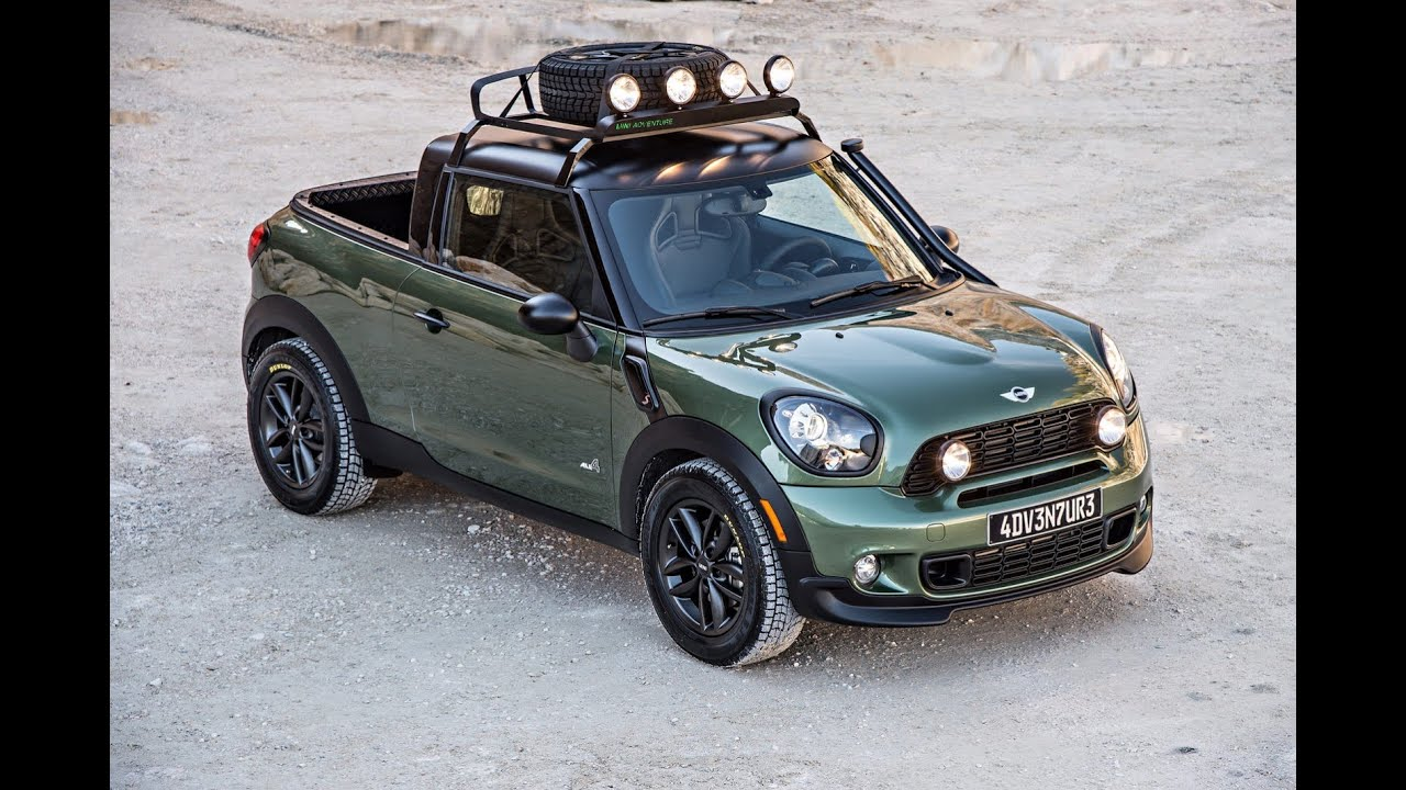 mini paceman adventure pickup truck youtube. Black Bedroom Furniture Sets. Home Design Ideas