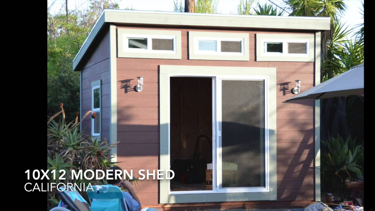 10x12 Shed Plans From Icreatablestv Youtube