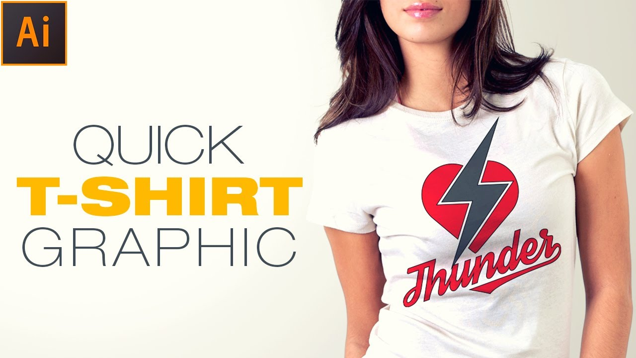 Illustrator Tutorial:How to create simple Tshirt Graphic design ...
