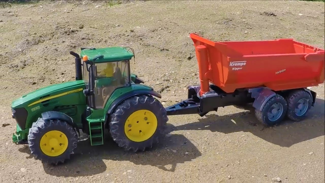 Bruder Tractor For Kids Sand Crash!