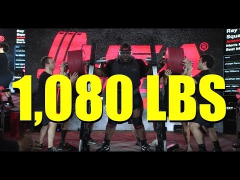 RAY WILLIAMS | 1,080 LBS WORLD RECORD SQUAT | (3/2/2019)
