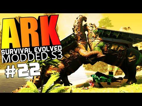 ARK Survival Evolved - TITANOSAUR VS WARDEN, BIONIC WOLF ELDER PUPPET Modded #22 (ARK Mods Gameplay)
