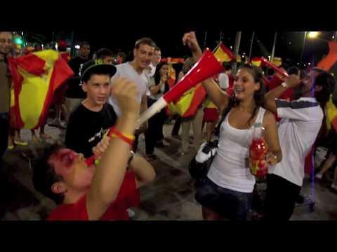 F te des espagnols veveysans apr s la finale de la coupe - Finale coupe du monde 2010 ...