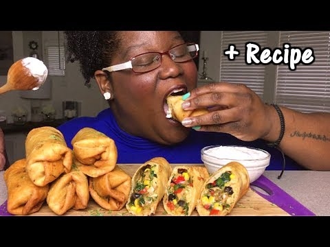 Southwestern Rolls 먹방 Mukbang + Recipe 남서풍 롤빵 무크 반 + 요리법