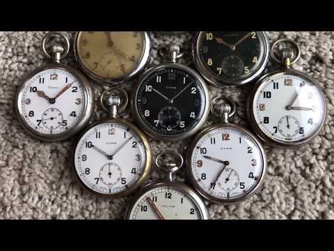 WWII British Military GSTP Pocket Watches