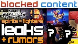 SPIRITS = Playable FINALLY - All The LEAKS & RUMORS For Smash Ultimate! - LEAK SPEAK!