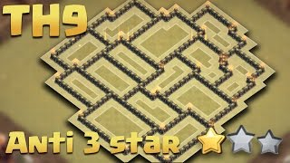 Town Hall 9 (TH9) Update WAR BASE Anti-3 Star + Replays Proof All Combo Attack