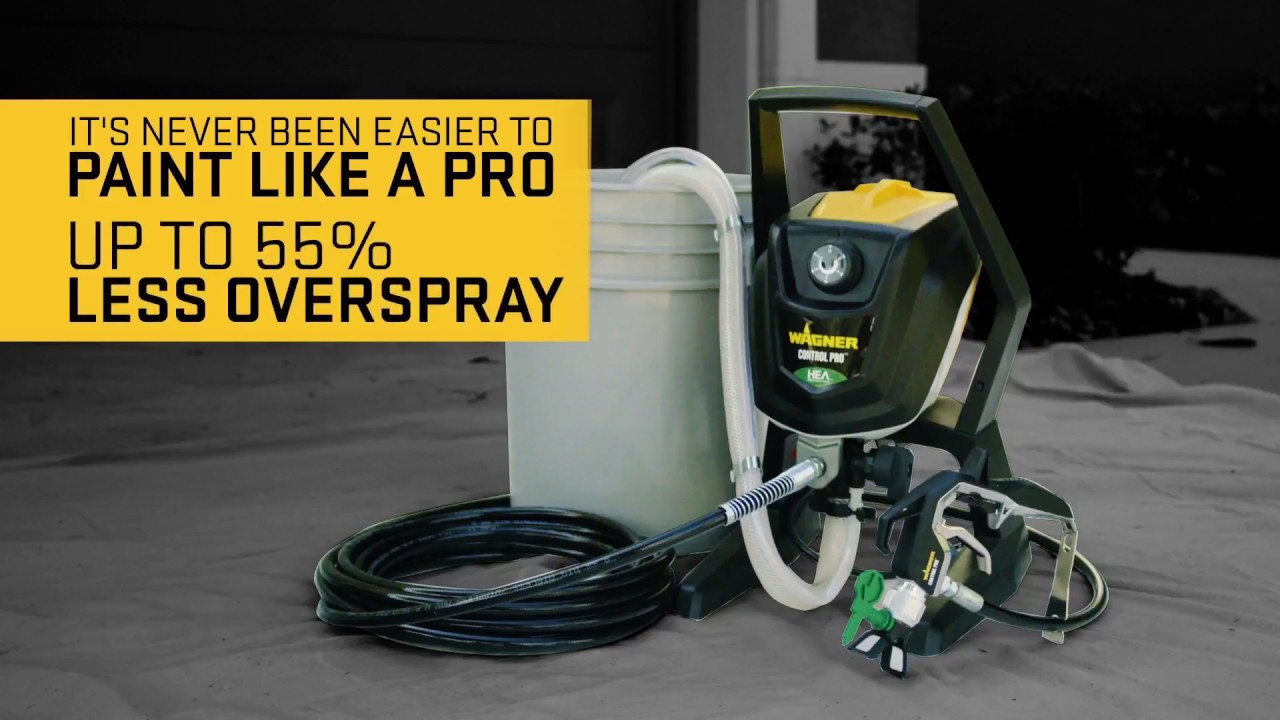 Wagner Control Pro High Efficiency Airless Sprayers - NEW - YouTube 1bf2f6f3dd2