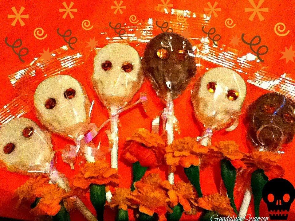 DIY Paletas de chocolate de Calaveritas para Hallowen o Dia de ...