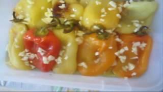 Перец запеченный в духовке с чесноком и оливовым маслом  Холодная закуска