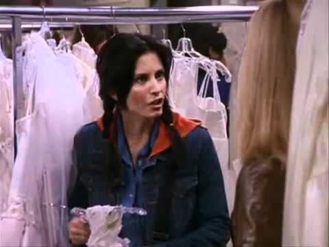 Friends S7 - Monica fighting for her wedding dress - YouTube
