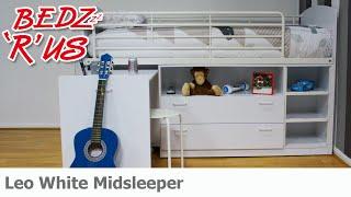 Leo Sleeper White Midsleeper - Bedzrus