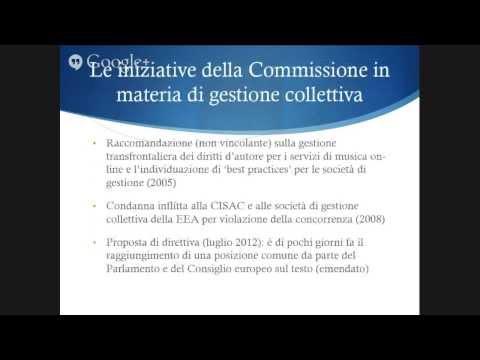 59° Mercoledì di Nexa - Il diritto d'autore nel Mercato Unico Digitale dell'Unione Europea