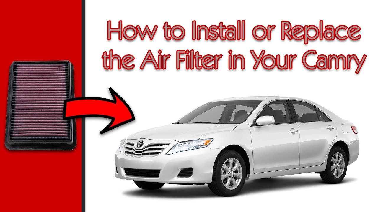 2011 toyota camry how to replace the air filter youtube. Black Bedroom Furniture Sets. Home Design Ideas